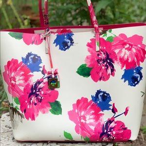 Kate Spade Len Pink Floral Tote